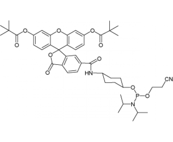 6-Carboxyfluoresceinamide phosphoramidite, pivaloyl protection